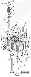 ГБЦ, клапана, седла, направляющие, коллекторы Cummins QSK23