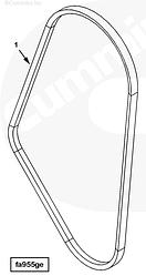 Ремень приводной Cummins QSK23 4096566