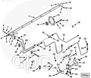 Топливная система, форсунки, трубки, распылители, соединения Cummins KTA19