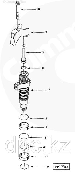 Форсунка топливная Cummins ISX QSX 4088665 4076902