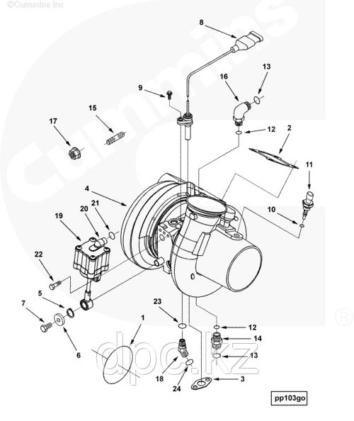 Прокладка турбины Cummins ISX QSX 3102314