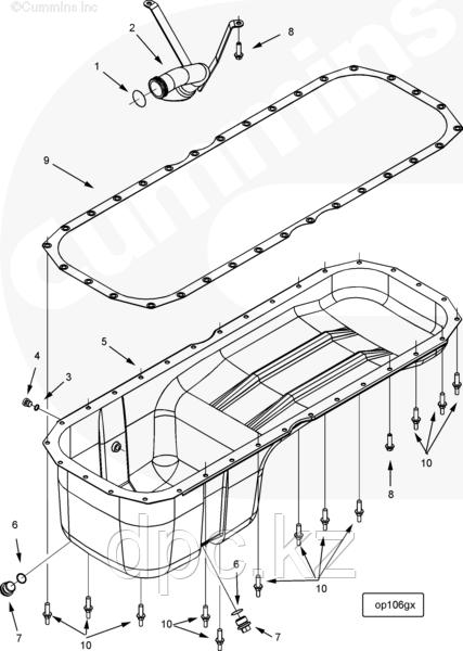 Кольцо уплотнительное масляного поддона Cummins ISX QSX 15 3678756
