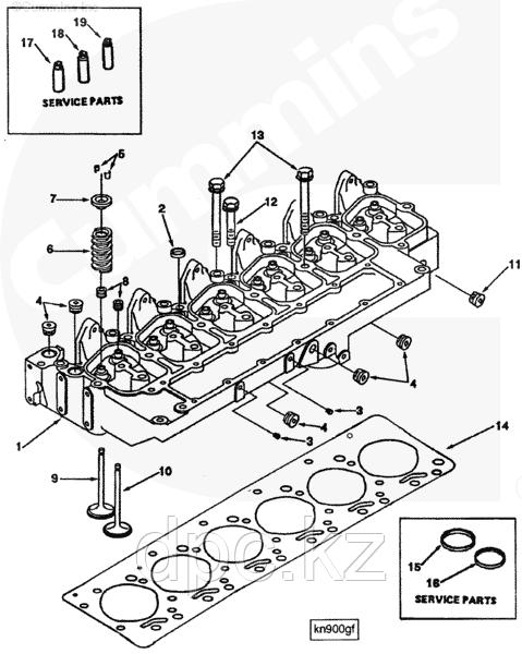 Клапан впускной Cummins (4BT-6BTA) EQB140/210-20 3901117 3920867