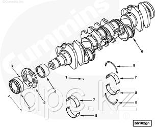 Комплект вкладышей коренных коленвала 0.5 (2-го ремонта) Cummins QSX ISX 4089846 4907152
