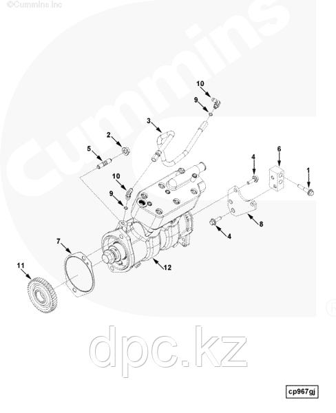 Кронштейн компрессора задний Cummins ISLe 3942911