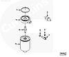 Фильтр топливный сепаратор Cummins 6B5.9 6CTA8.3 Fleetguard FS1251 Флитгард 3286503 3931062 3843760, фото 5