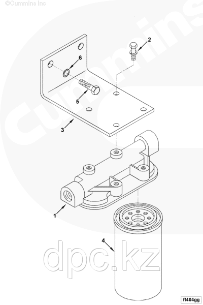 Фильтр топливный Fleetguard (Флитгард) FS1000 3329289 3161407