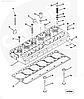 Головка блока цилиндра Cummins M11 ISM 4004086RX 4083406RX 4952453RX 4952829RX 2864028RX, фото 5