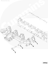 Выпускной коллектор Cummins ISF 3.8 Евро-4 5290277