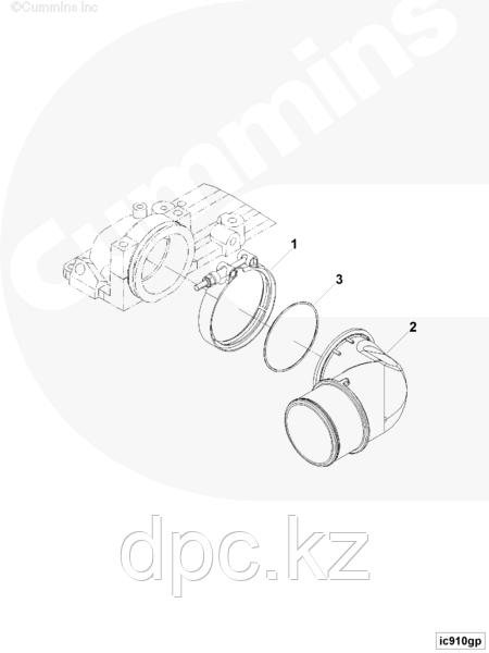 Кольцо уплотнительное воздушного патрубка Cummins 6IBSe 3867646