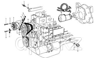 Болт крепления генератора Weichai WD615  90003800564