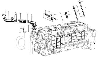 Трубка маслоуказателя нижняя Weichai WD615  612600010705