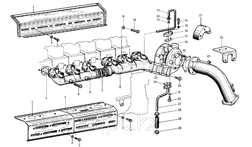 Трубка турбины масляная Weichai WD615  61560070001