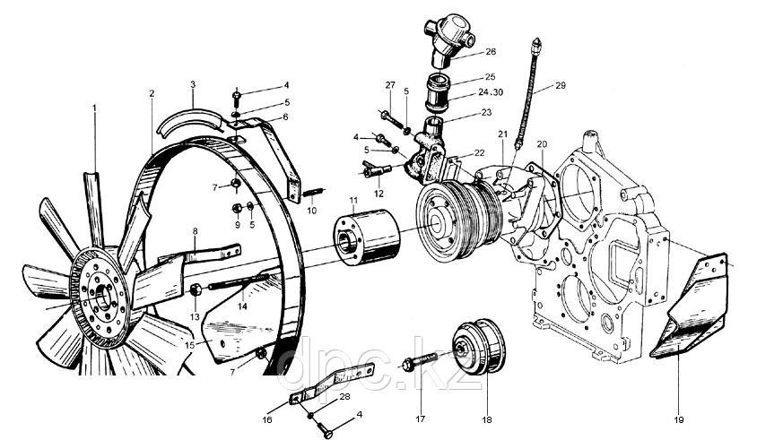 Кронштейн крепления двигателя к раме Weichai WD615  99100590006