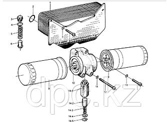 Шайба прижимная корпуса масляного фильтра Weichai WD615  90003932023