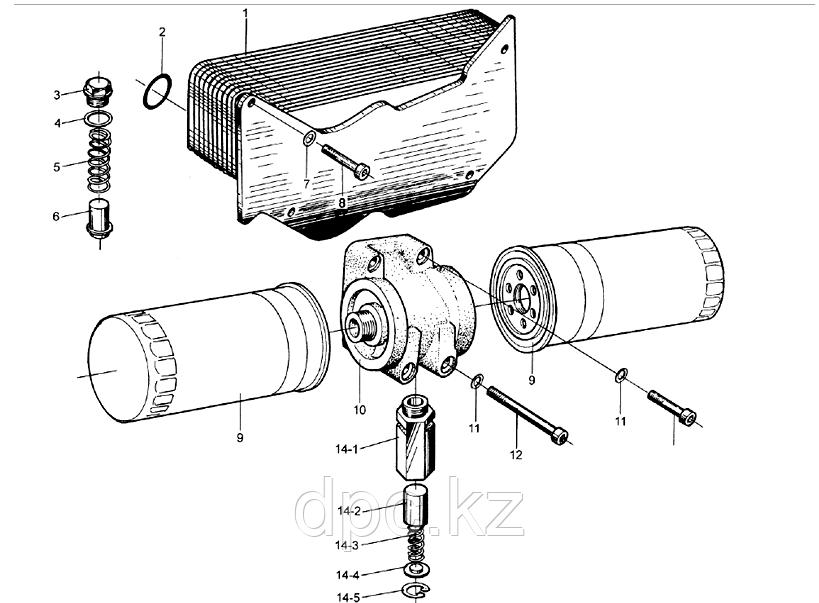 Клапан масляный перепускной (в сборе)Webchai WD615  AZ1500070097