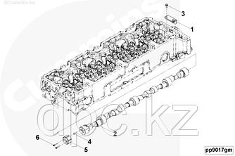 Вал распределительный двигателя Cummins ISG12 3697212 3696058