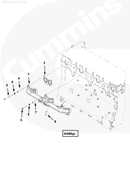 Болт крепления выпускного коллектор Cummins ISG12 3696335
