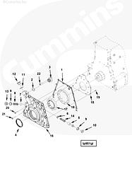 Ротор внутренний масляного насоса Cummins ISG123696434