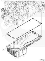 Прокладка поддона двигателя Cummins ISG12 3695880