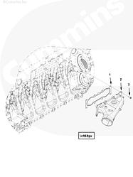 Патрубок воздушный впускной Cummins ISG12 3696223