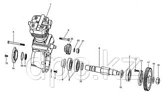 Компрессор одноцилиндровый Weichai WD615 Евро-3  VG1560130070