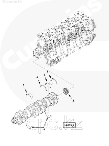 Комплект вкладышей вала коленчатого Cummins ISG12 4309573