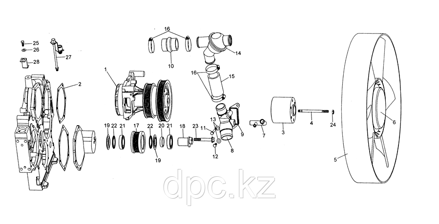 Трубка термостата Weichai WD615  Евро-3  VG2600060518