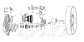 Патрубок термостата Weichai WD615 Евро-3  VG61000060276
