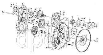 Вкладыш промежуточной шестерни Weichai WD615 Евро-3  H46Q207019017