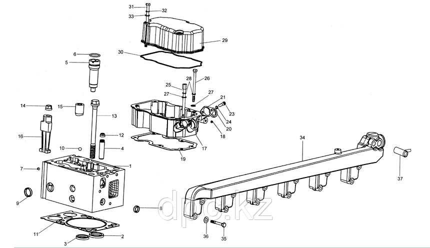 Прокладка клапанной крышки Weichai WD615 HOWO Eвро-3 Резиновая VG1540040054