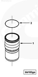 Кольцо уплотнительное гильзы ремонтной Cummin ISX QSX 3678738
