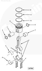 Комплект поршневых колец Cummins ISX QSX 15 4309441 4089406 2881682