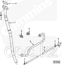 Трубка подачи масла к турбине Cummins ISX QSX 4318644 3100646