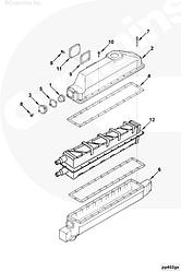 Интеркулер турбокомпрессора в сборе Cummins KTA19 4094902