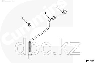 Трубка обогащения топливной смеси Cummins KTA19 4308738 3070965