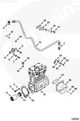 Уплотнение фильтра воздушного компрессора Cummins KTA19 103426
