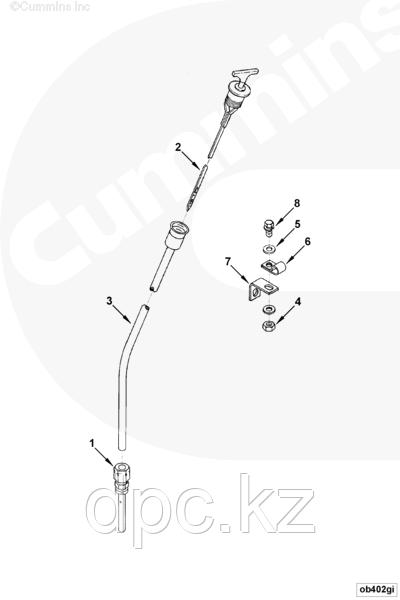 Трубка щупа масломерного Cummins KTA-19 3000508 3655211