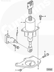 Клапан отсечки топлива (соленоид) ТНВД Cummins 6BTA 3935650