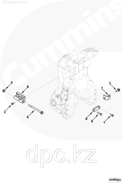 Кронштейн генератора Cummins 4BTAA 3976843