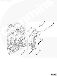 Кронштейн генератора Cummns ISF2.8 / Foton 5286733 5262506