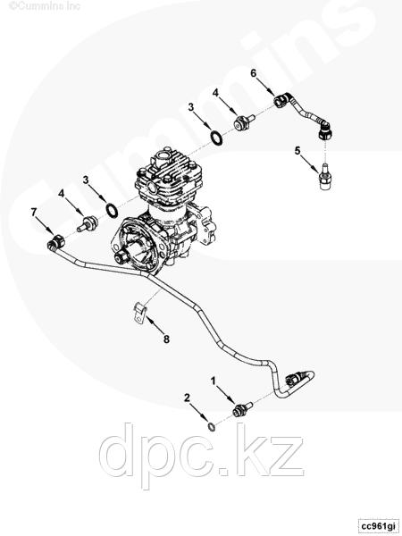 Трубка охлаждения компрессора подводная Cummins ISF3.8 5269952