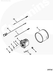 Форсунка дозатор устройства очистки газов Cummins ISB 4999800 4999799