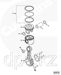 Поршневая группа двигателя Cummins QSL9 ISC QSC8.3 6C 4955237