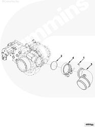 Патрубок турбокомпрессора Г-образный Cummins ISF 3.8 4946412