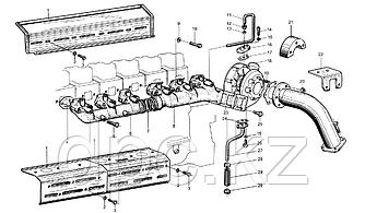 Коллектор воздушный выпускной Weichai WD615  612600110673