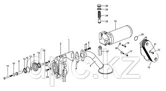 Прокладка радиатора масляного Weichai WD615 Евро-3  VG1400010032