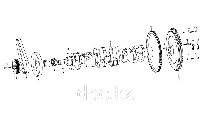 Шкив ручейковый Weichai WD615 Евро-3  VG2600020252