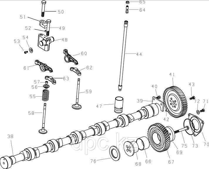 Опора рычага клапана Weichai WD615 Евро-3  VG1540050010