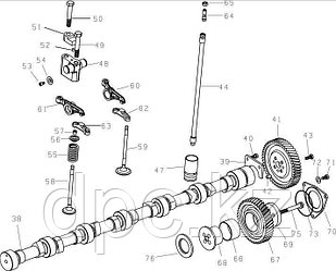 Траверс клапана выпускного Weichai WD615 Евро-3  VG1540050019